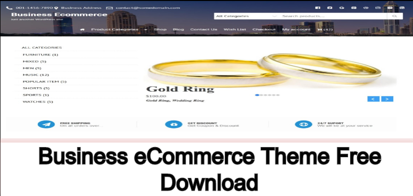 business ecommerce theme free download