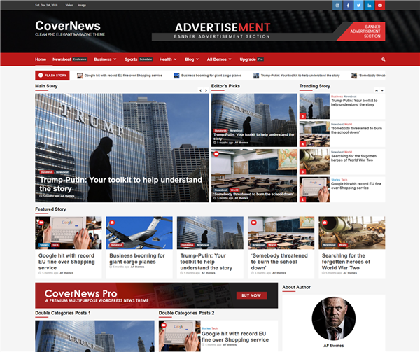 covernews theme free download