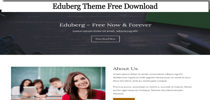 eduberg theme free download