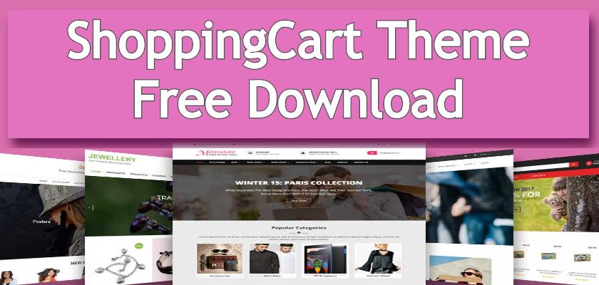 shoppingcart theme free download