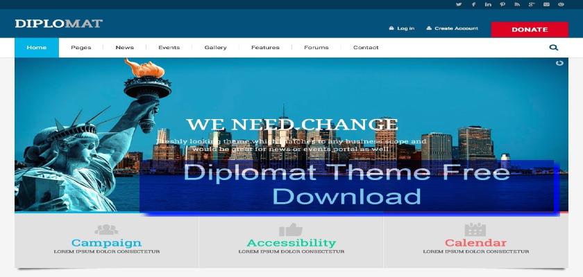 Diplomat Theme Free Download