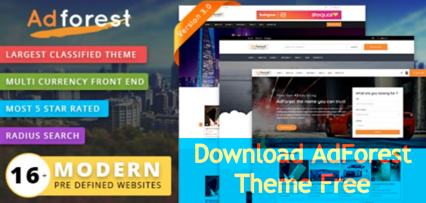 Download AdForest Theme Free
