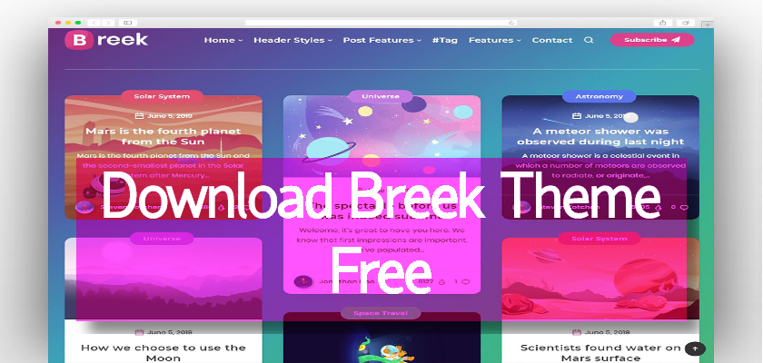 Download Breek Theme Free