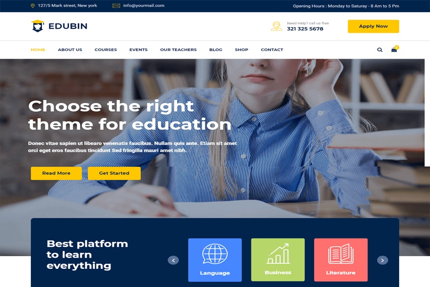 download edubin theme free