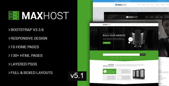 Download MaxHost Theme Free
