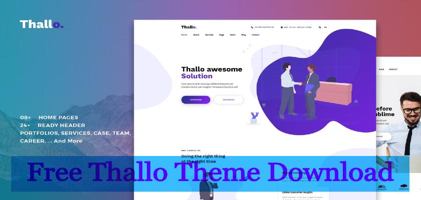 Free Thallo Theme Download