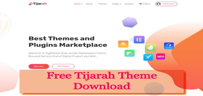 Free Tijarah Theme Download