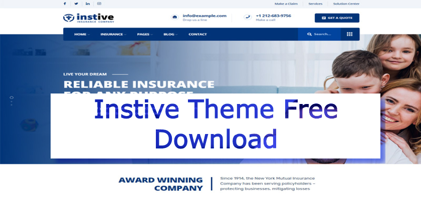 Instive Theme Free Download