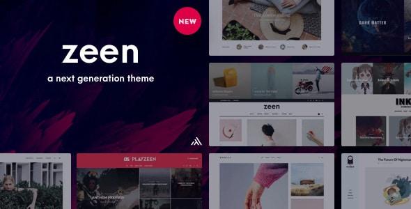 Zeen theme free download