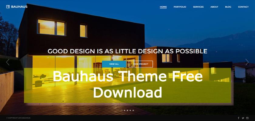 Bauhaus Theme Free Download