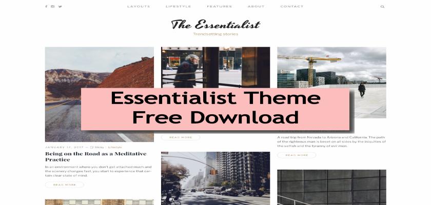 Essentialist Theme Free Download