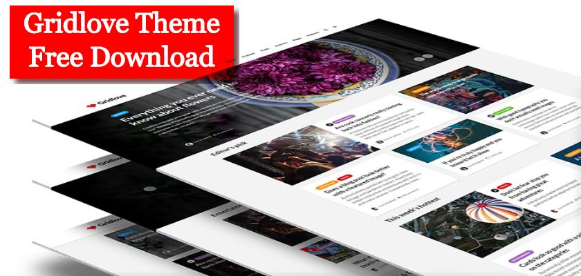 Gridlove Theme Free Download