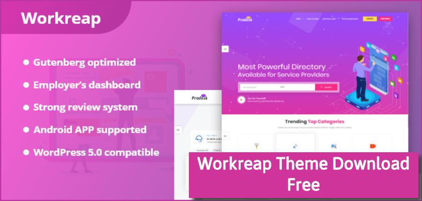 Workreap Theme Download Free