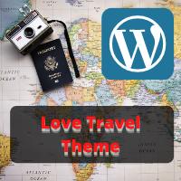 Love Travel Theme Logo