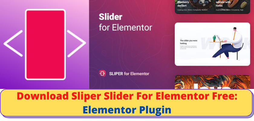 Slider For Elementor