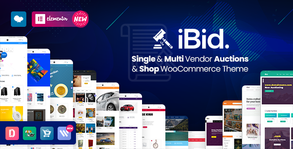 iBid Multi-Vendor Auction WordPress Theme