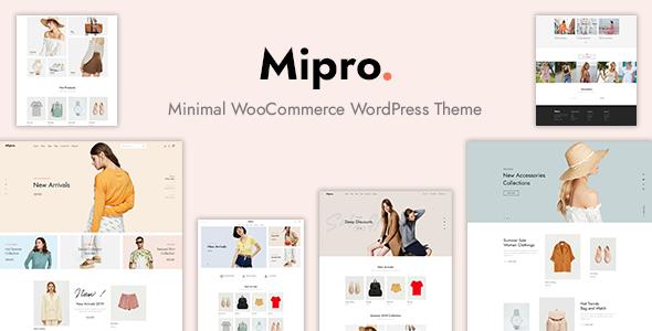 Mipro - Minimal WooCommerce Theme