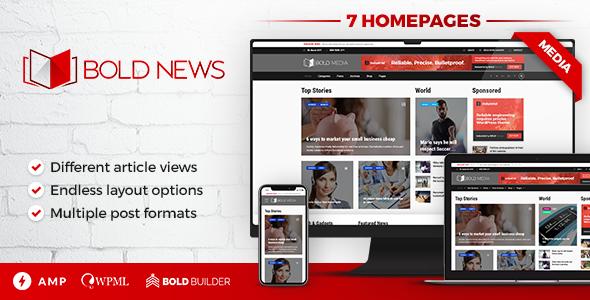 Bold News Theme For WordPress