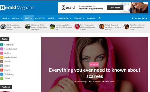 Herald WordPress Theme Download Free