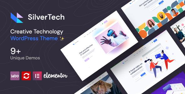 Silvertech WordPress Template
