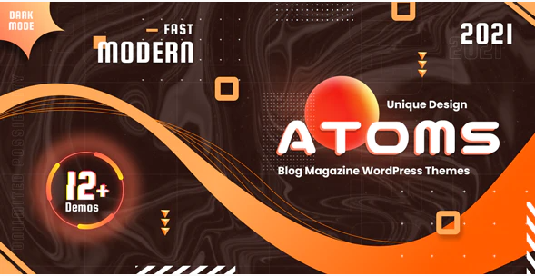 Atoms - WordPress Magazine & Blog Template