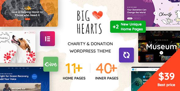 BigHearts WordPress Theme