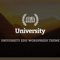 University Template for WordPress