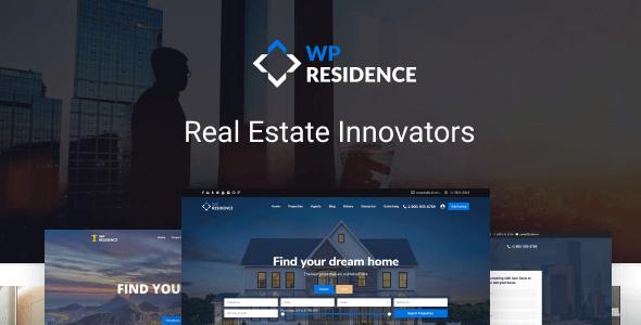 WP Residence Real Estate WP Theme