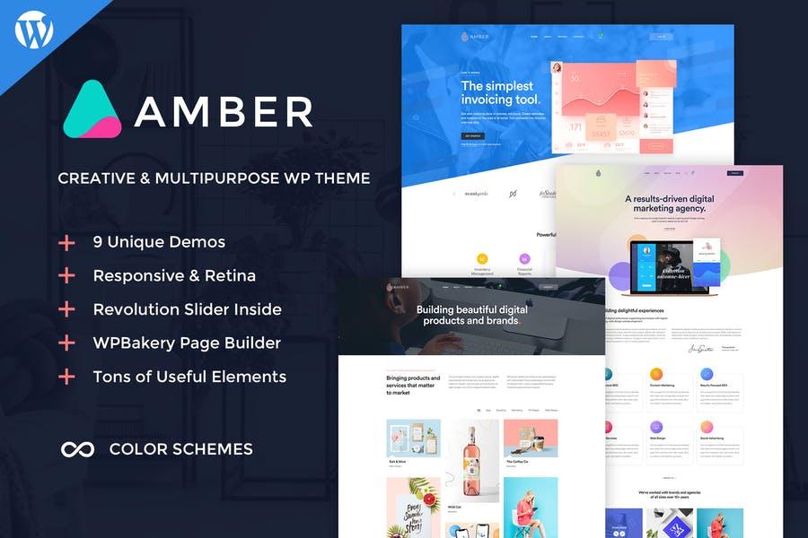 Amber Six  WordPress Theme